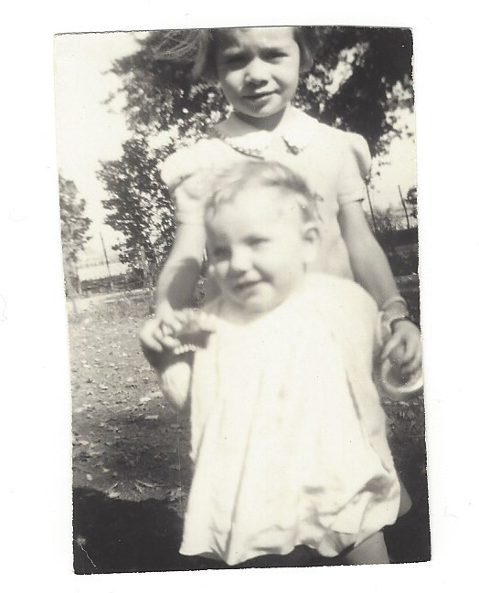 Janet Stobie as a little girl with another girl